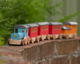 Handcrafted Wooden Toy Passenger Train