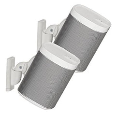 Sonos One, Sonos Play:1 and Play:3  Wall Bracket Pair White
