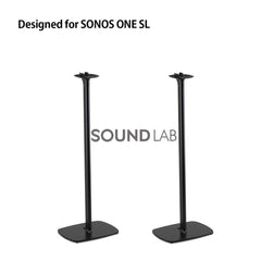 Sonos One SL Floor Stand Pair Black