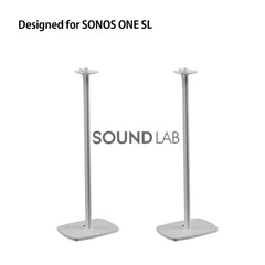 Sonos One SL Floor Stand Pair White