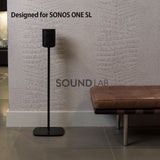 Sonos One SL Floor Stand- Black Flexson (pair)