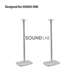 Sonos One Floor Stand- White Flexson (pair)