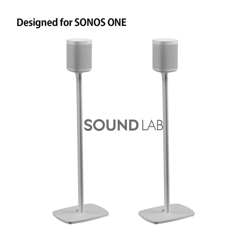 Sonos One Floor Stand Pair White