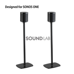 Sonos One Floor Stand- Black Flexson (pair)