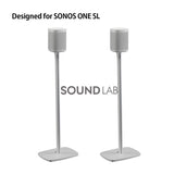 Sonos One SL Floor Stand- White Flexson (pair)