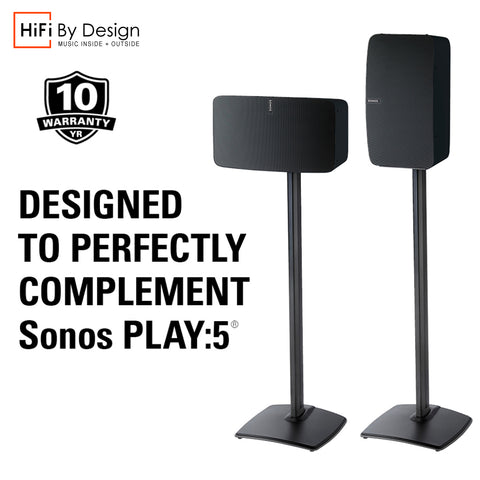 SONOS PLAY:5 Gen 2 Premium (Single) Floor stand Black Hifi By Design