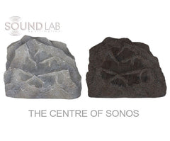 Soundlab Garden HiFi BY DESIGN Rock Speakers to Connect to Sonos for Backyard Grey Performance Bundle