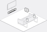 Sonos 5.1 Home Theatre Playbar Sub Play:1 Black Pair and Boost Package