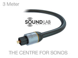 Sonos PLAYBAR 3 Meter Optical TOSlink Pro Cable
