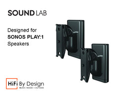 Sonos One, Sonos Play:1 and Play:3 Wall Bracket Pair Black