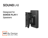 HiFi By Design Sonos Play:1 Swivel Tilt Wall Bracket - Black (Single)