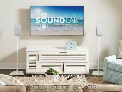 Sonos Play:1/Play:3 Floor Stand White (Pair)