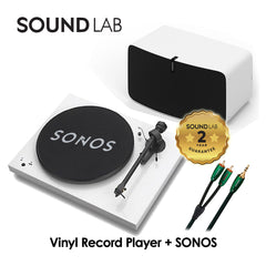 The Vinyl Record Player Bundle (with setup) -  White