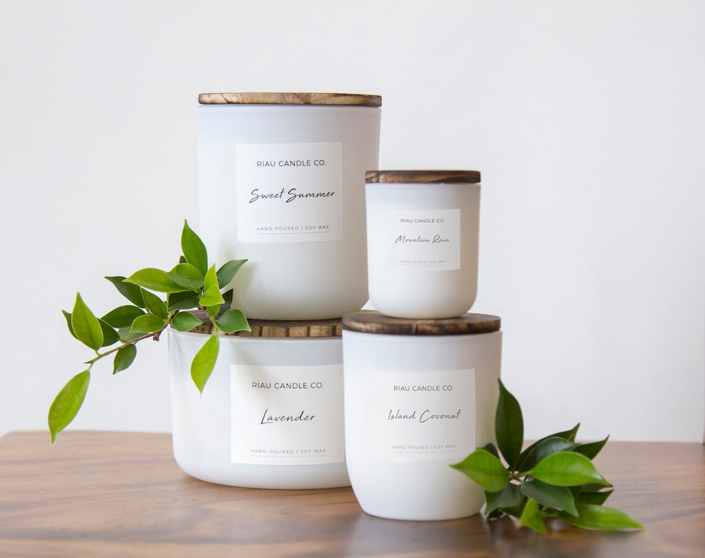 Ethical hand poured soy candles from For Dignity Australia
