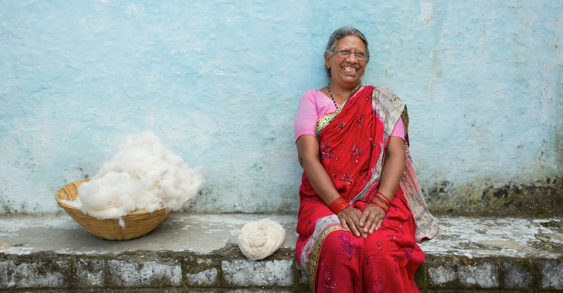 Raw cotton in India, to make Joyn designer bags | For Dignity Australia