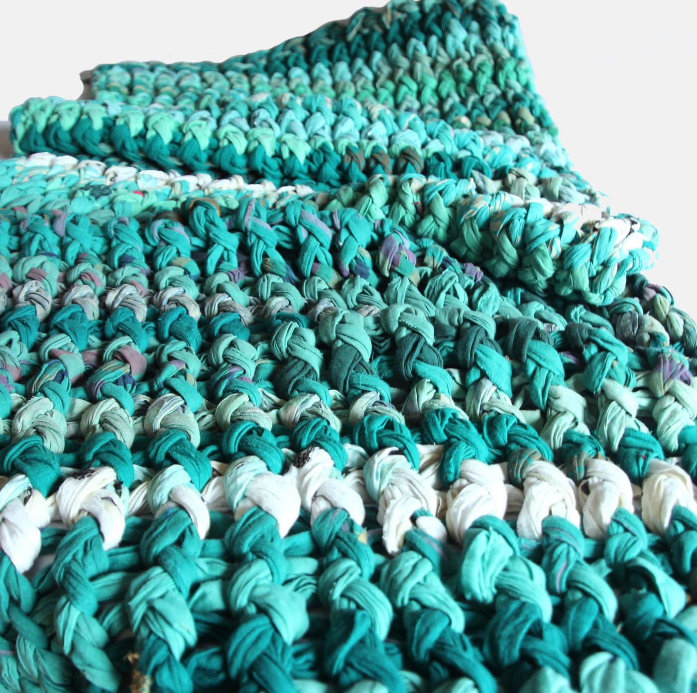 Blankets fair trade ethical sustainable fashion Knotted Throw - Mountain Greens conscious purchase Basha