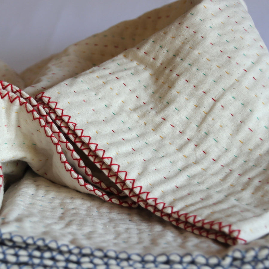 Blankets fair trade ethical sustainable fashion Natural Cotton Throw conscious purchase Basha