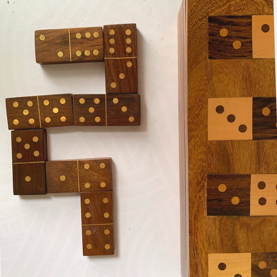 Books, Games and more fair trade ethical sustainable fashion Wooden Dominos Game Set conscious purchase Matr Boomie