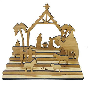 Celebration fair trade ethical sustainable fashion Bamboo Nativity Scene conscious purchase Freeset