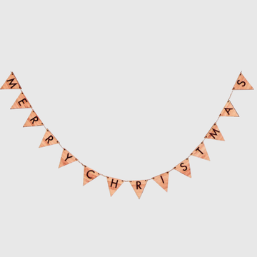 Timber Merry Christmas Bunting