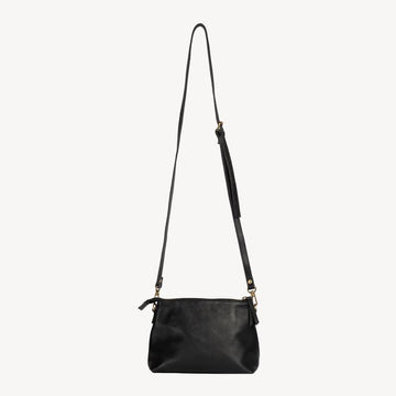 Crossbody fair trade ethical sustainable fashion Black Classic Crossbody conscious purchase JOYN
