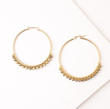 Earrings fair trade ethical sustainable fashion Large Gold Hoop Earrings - Bennett conscious purchase Starfish Project