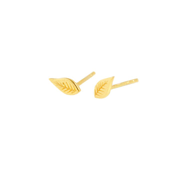 Earrings fair trade ethical sustainable fashion Leaf Stud Earrings in Gold or Silver conscious purchase Eden