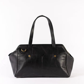 Leather Bags fair trade ethical sustainable fashion Black Leather 3 in 1 Weekender conscious purchase JOYN