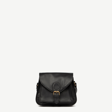 Leather Bags fair trade ethical sustainable fashion Black Leather Satchel - Myra conscious purchase JOYN