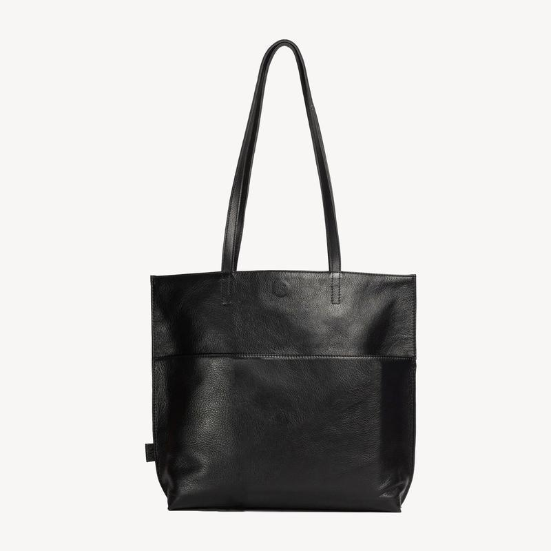 Black Everyday Leather Tote
