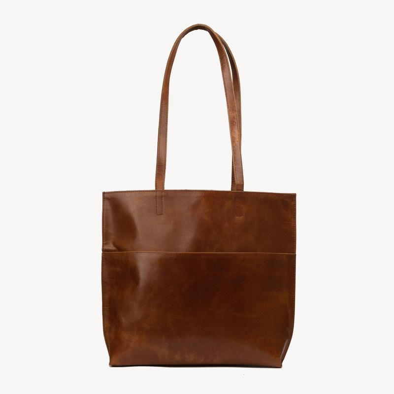 Leather Bags fair trade ethical sustainable fashion Brown Everyday Leather Tote conscious purchase JOYN