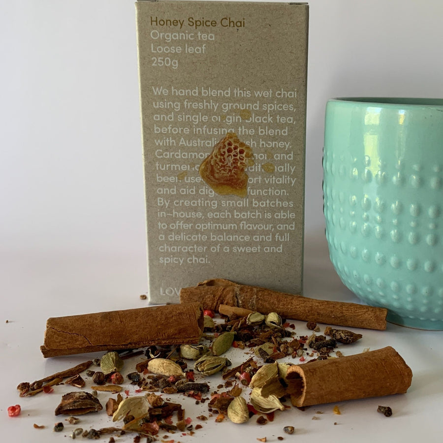 Pantry fair trade ethical sustainable fashion Honey Spice Chai Tea conscious purchase Love Tea