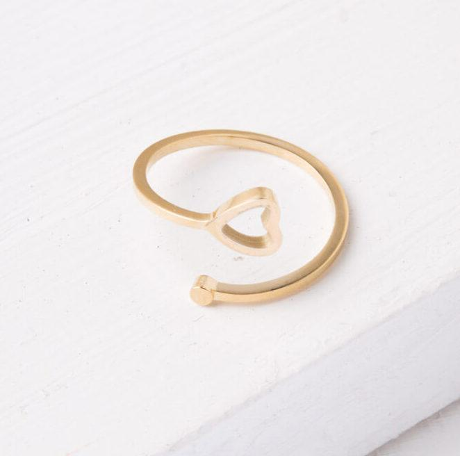 Ring fair trade ethical sustainable fashion Gold Heart Ring -Ada conscious purchase Starfish Project