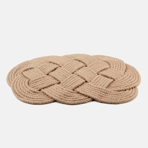 Oval Jute Knotted Rug