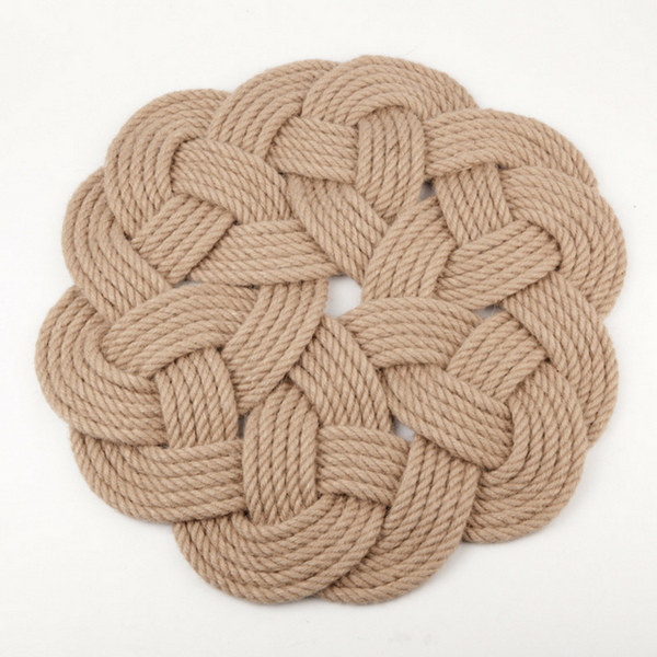 Rugs Round Jute Knotted Rug Ethical and Fair trade at for Dignity