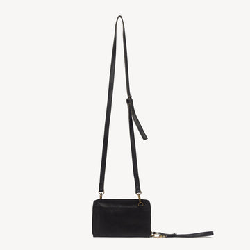 Black Leather Wallet Crossbody