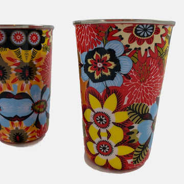 Table and Kitchen fair trade ethical sustainable fashion Stainless Steel Cups in Bouquet conscious purchase Fair Go Trading