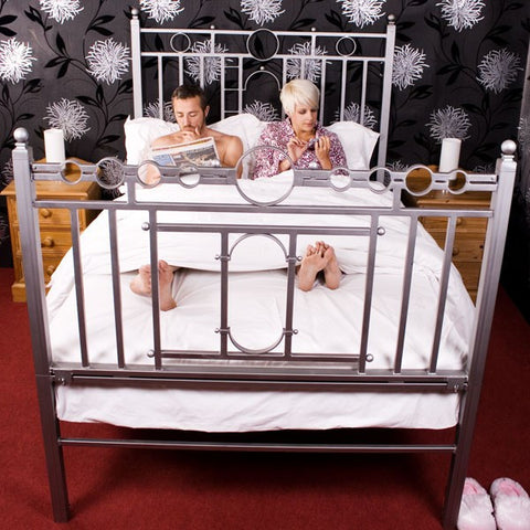 Double – Silver Bondage Bed