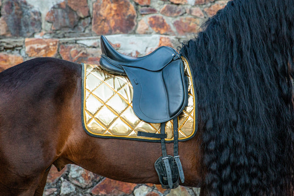 Gold Dressage Saddle Pad
