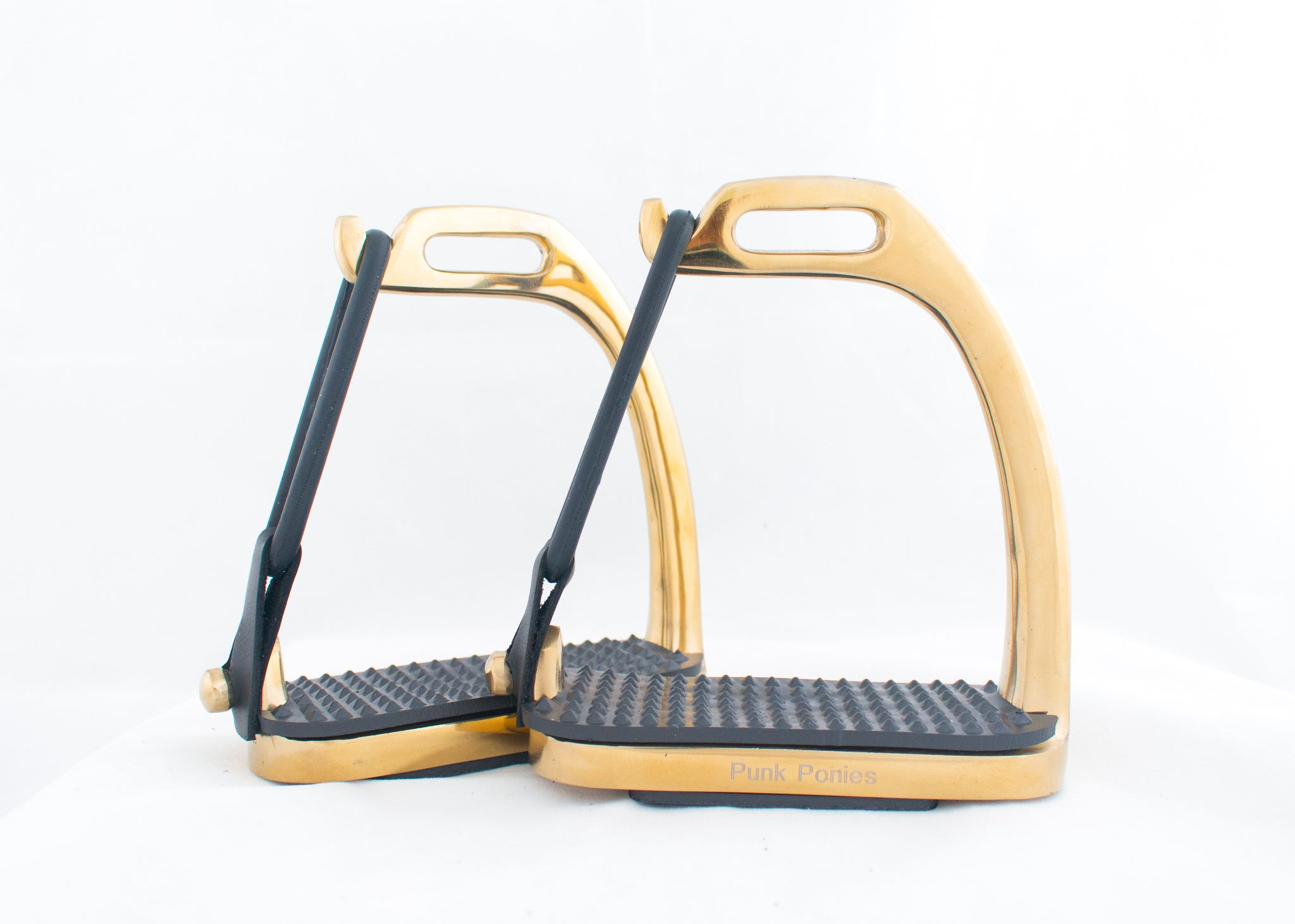 Electro-plated Peacock Stirrups