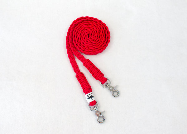 Paracord Reins - Silver Clips