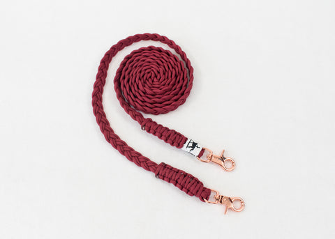 Paracord Reins - Rose Gold Clips