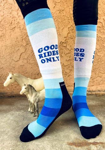 Good Rides Only Blue - Dreamers and Schemers Socks