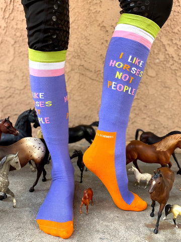 I Like Horses Not People - Dreamers and Schemers Socks