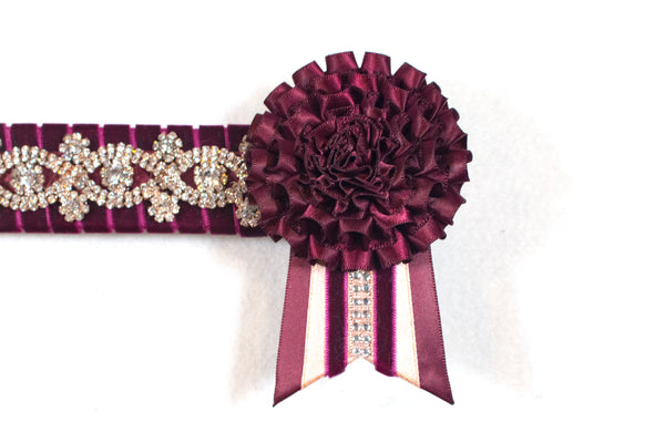 "Plum and Pink 16"" Show Browband"