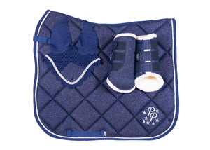 Navy Glitter Dressage Set