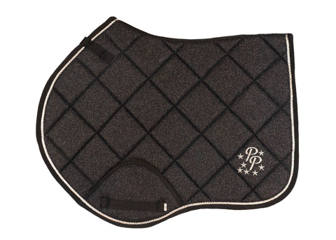 Black Glitter Jump Saddle Pad