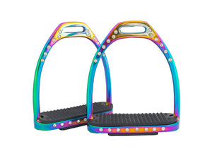 Rainbow Crystal Stirrups