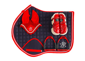 Red and Navy Jump Set