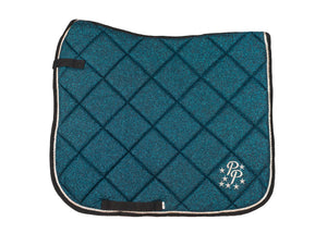 Teal Glitter Dressage Saddle Pad